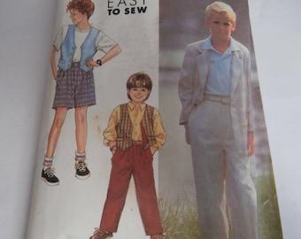 Simplicity Sewing Pattern 7120 Boy's Jacket, Vest, Pants, Shorts Size 7-12