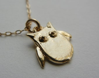 Little Owl Necklace (Gold)