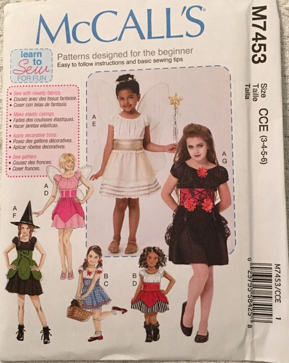 McCall\'s Sewing Pattern M7453 Girls Fairy, Witch, Pirate, Angel ...