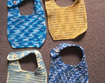 Beautiful pack of 4 multicoloured cotton bibs