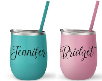 Engraved Tumbler, Permanent Etched Cup, Personalized Cup, Personalized Kids Cup, Custom Name Kids Cup, Kids Cup with Straw, Stainless Steel