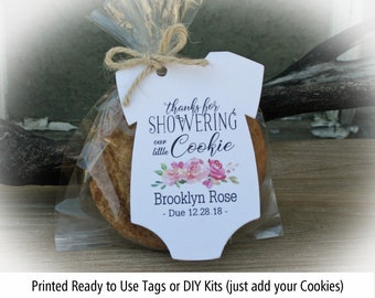 Cookie Favor Tags Etsy