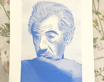 Ian McKellen Screen Print