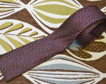 1950s Square End Silk Skinny Necktie