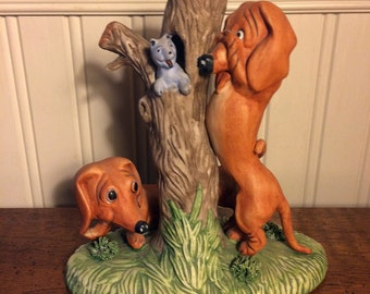 Teckel Figurine 1975 Rare Vignette