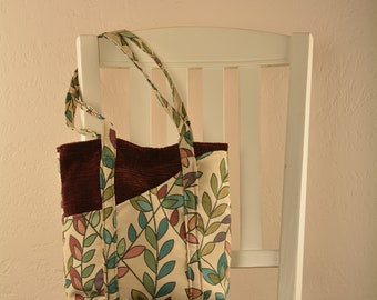 Teal Fern Tote bag