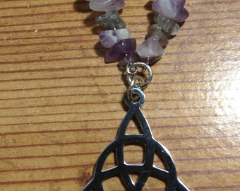 Triquetra with Amethyst pendant