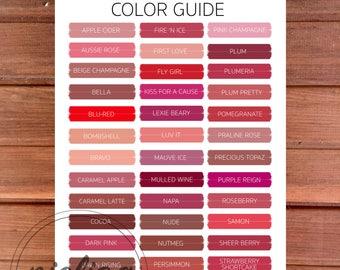 Lipsense Color Guide, Lipsense Party Decor, Lipstick Colors, Color Swatches, Lipsense Color Display, Lipsense Color Chart, Lipsense Display