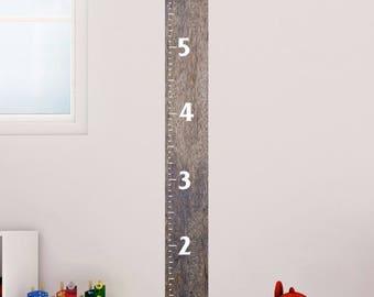 Matte Wall Growth Chart Ruler Vinyl Decal