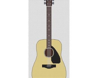 Acoustic Guitar Cross Stitch Design by Elite Designs