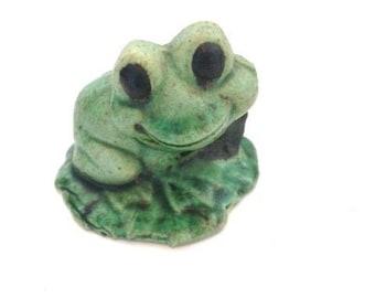 Vintage Ceramic Garden Frog