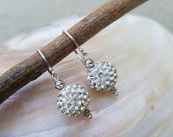 Sterling silver earrings with swarovski crystal