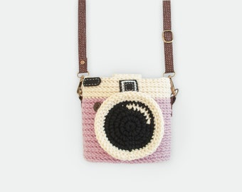 Crochet Case for Fuji Instax Camera - Lomo Camera/ Pink Color