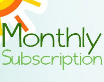 Monthly Subscription Quiet Book
