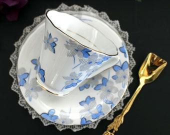 Royal Grafton Tea Cup and Saucer -  Art Deco Bone China -  English Vintage Teacup 13325