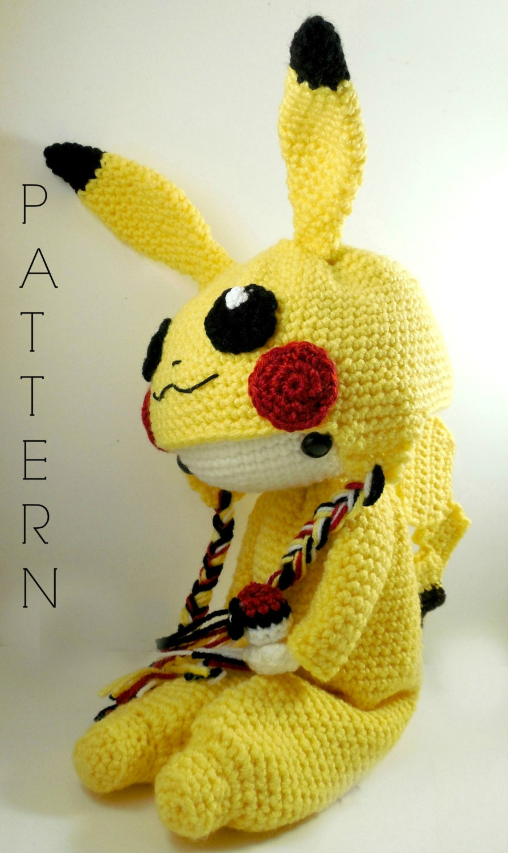 Pikachu - Amigurumi Doll Crochet Pattern PDF from CarmenRent on Etsy ...