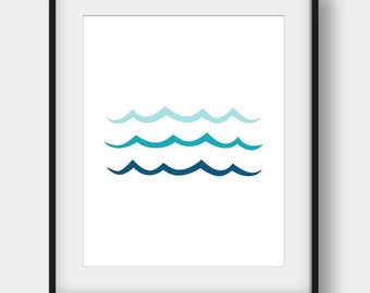 60% OFF Wave Print, Ocean Art, Ocean Wall Decor, Teal Wall Decor, Minimalist Print, Wave Poster, Nautical Decor, Sea Art, Coastal, Wave Art