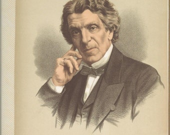 Dr. James Martineau color lithograph printed in the early 1900's published by CASSELL PETTER and GALPIN