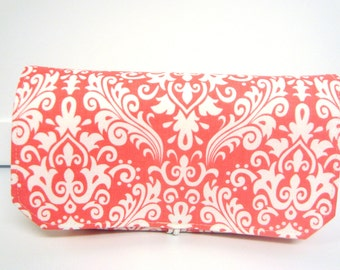10% OFF Coupon Organizer / Budget Organizer Holder  - Attaches to Your Shopping Cart -  Coral Damask or Choose Your Color