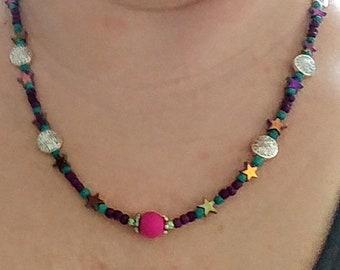 SALE Shooting Metallic Star Necklace