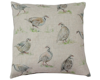 Partridge Countryside Animal Print Cushion Cover