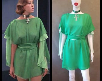 MADE TO ORDER Jenny Agutter's Green Inspired Dress from the 1976 Movie Logan's Run