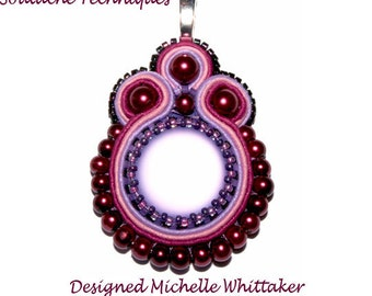 Soutache Luna Needlework Pendant Tutorial PDF