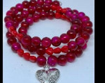 Valentines Memory Wire Bracelets