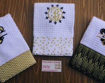 Fleur De Lis Kitchen Or Hand Towel French Louisiana