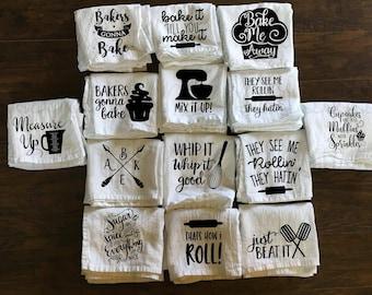 Kitchen Towel - Baking Towel - Funny Towel - Flour Sack Towel - Song Towel - Tea Towel - Baker - Utensils - Chef - Gift - Present