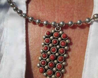 Petit Point Coral Necklace