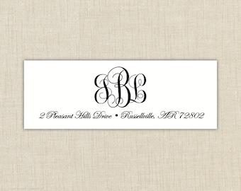 Return Address Labels, Return address stickers, return address, return address label stickers, monogram labels