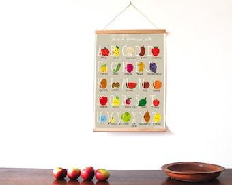 Fun Food Alphabet Poster