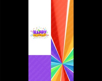 Happy Birthday Cheer Bow Graphic Sublimation Instant JPG Download
