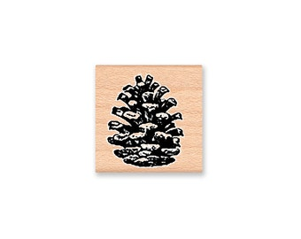 BOLD PINE CONE-Wood Mounted Rubber Stamp (mcrs 24-25)