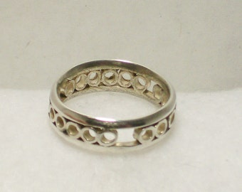 Sterling Wire and Tube Ring size7 1/2