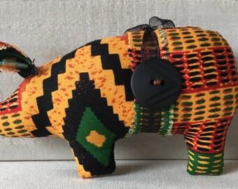handmade ornaments - southwest decor - tribal decor - farm decor - pig ornament  - pig decor - animal ornaments - novelty ornaments