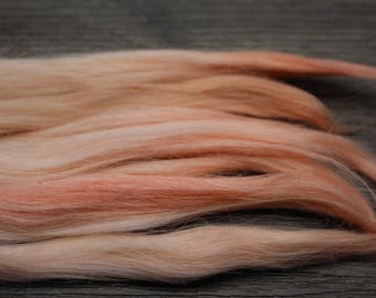 "7"" 0.35oz SALMA  hand dyed suri alpaca locks washed combed doll hair for reroot wig bjd, Blythe Minifee msd reborn Waldorf doll"