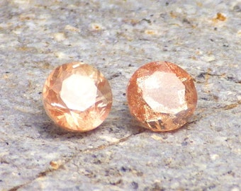 Schiller Oregon Sunstone 1.46 Ct TW Flawless-2 pcs-Jewelry Pair-Small Ring Sizes