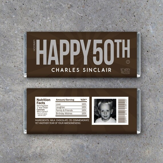 Wild image regarding free printable birthday candy bar wrappers