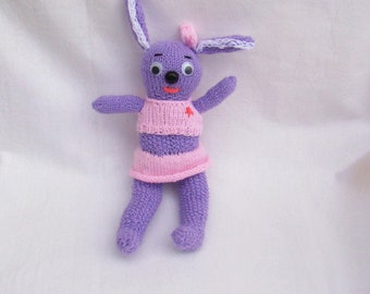 knitted toy rabbit knitted rabbit cute bunny first toy soft toy good toy favorite bunny easter bunny gift bunny primitive rabbit funny