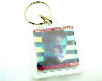 Vintage 80s Adam Ant - Adam and the Ants - Dirk Wears White Sox (1983 U.S.A. Album Release) Keychain