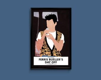 Ferris Bueller's Day Off 11 x 17 Minimalist Movie Poster