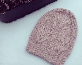 Hand knitted slouchy hat- Slouchy Hat - Slouchy Beanie Hat - Winter Hat