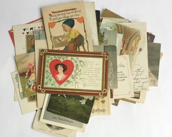 Set of Vintage Postcards - 54 total