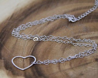 Heartland Sliver Chain Necklace. Minimalist Jewellery.