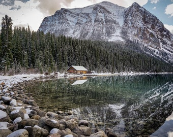 Lake Louise Boathouse Photography Print