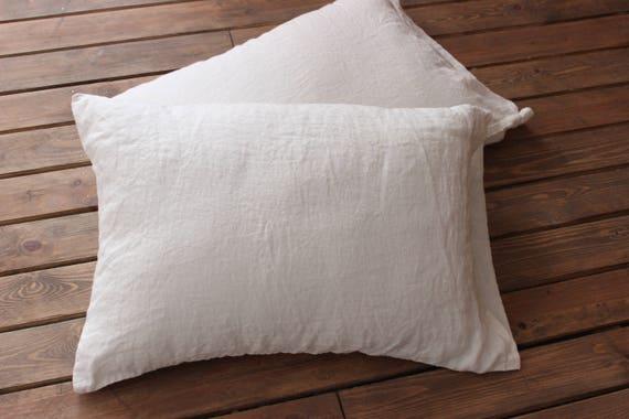 Linen Pillowcase Stone Washed Soft Envelope Closure Soft