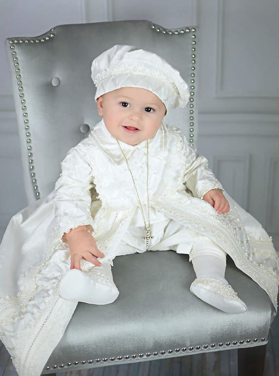 dde1d9be0 Baby Boy Christening Gown, Spanish Style outfit (ropones para bautizo). Baptism  Outfit B001 ...