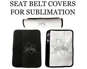 Neoprene Seat Belt Covers BLANK FOR SUBLIMATION